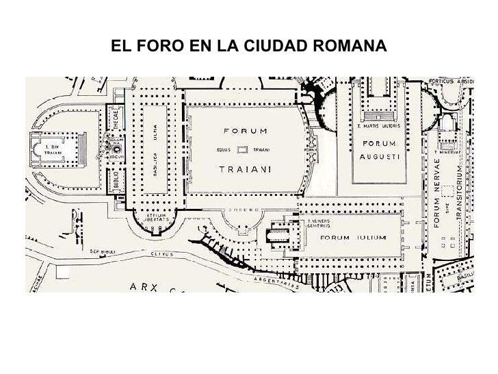 EL FORO EN LA CIUDAD ROMANA