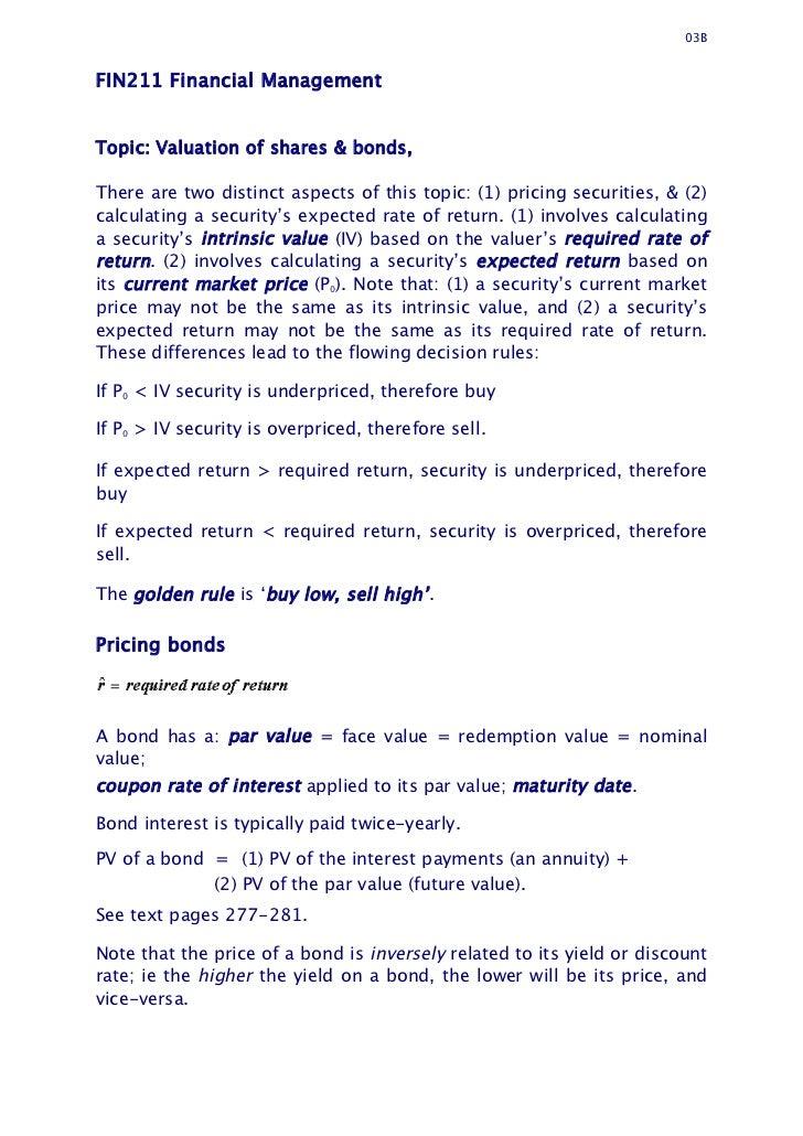 bonds valuation Bonds' valuation:long bond - risk theory, bond portfolio theory, interest rate tradeoff financial management business management commerce finance.