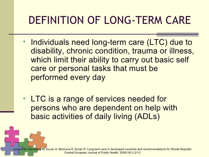 Long term Care in De