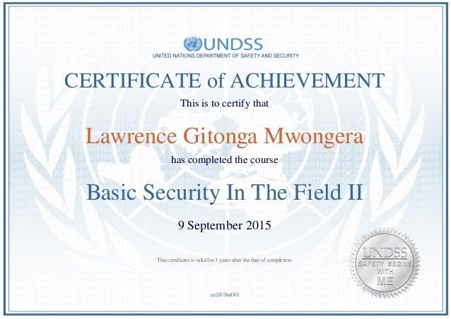UNDSS BSITF (English)_BSITF Certificate_Lawrence Gitonga ...
