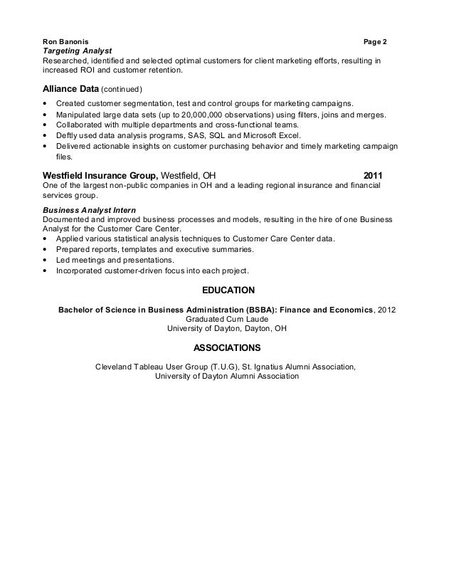 SlideShare  Business Process Analyst Resume