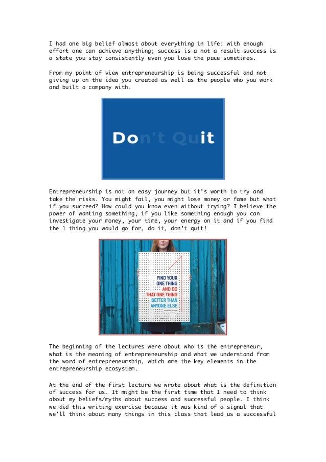 reflective essay on entrepreneurship Entrepreneur reflection paper: rebecca mccray essay, buy custom entrepreneur reflection paper: rebecca mccray essay paper cheap, entrepreneur reflection paper.