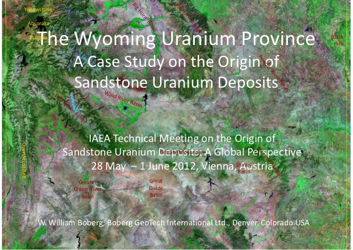 Yellowstone             Absoraka                    The Wyoming Uranium Province                  Plateau                 ...
