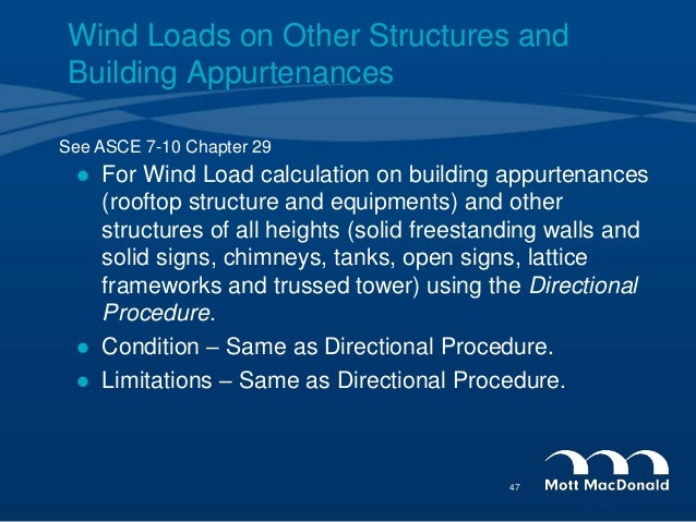 46 47 for wind load calculation