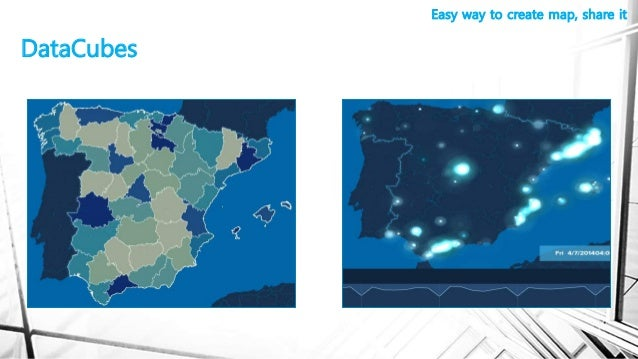 DataCubes Easy way to create map, share it