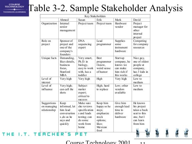 Stakeholder Analysis Table Image Gallery  Hcpr