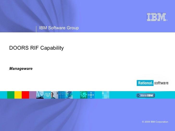 DOORS RIF Capability Manageware