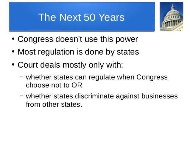 Legislative Power, Part II: Commerce Clause