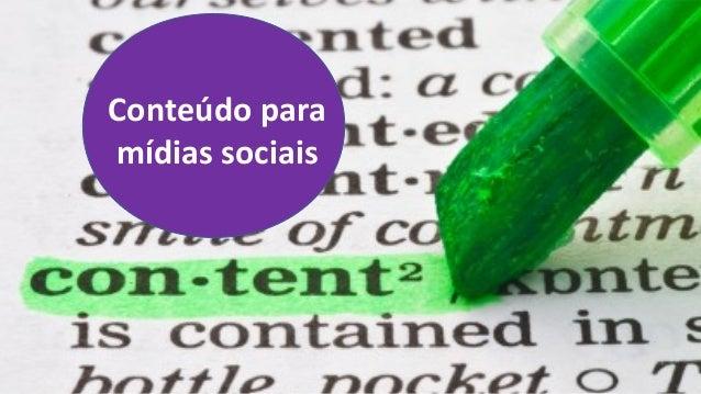 Conteúdo paramídias sociais
