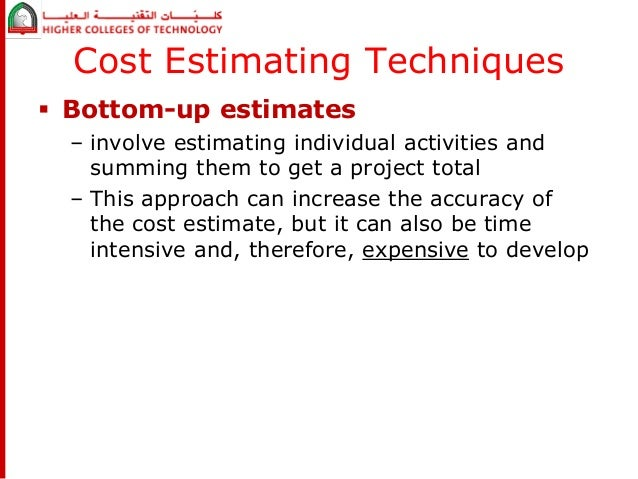 """project estimating techniques Wsdot cost estimating manual for projects m 303403 page i april 2015  project cost estimates should be as accurate as possible estimates should never be  risk-based estimating uses historical data and/or cost-based estimating techniques and an expert's best judgment to develop the project """"base cost"""" (project."""