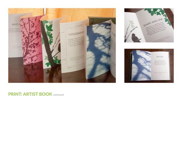 PRINT: ARTIST BOOK continued