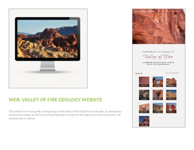WEB: VALLEY OF FIRE GEOLOGY WEBSITE This website is a visual guide to the geology of the Valley of Fire State Park in Neva...