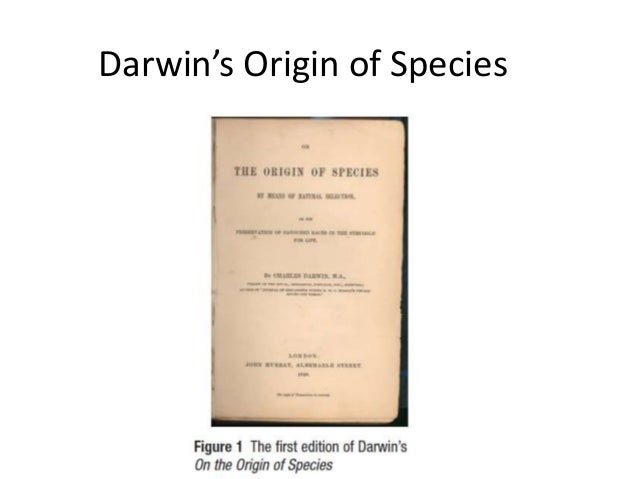 Darwin's Origin of Species