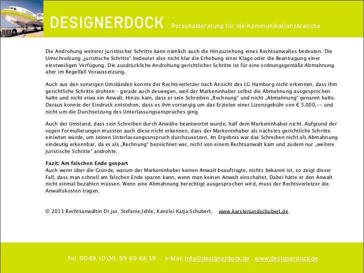 Designerdock Rechttipp Abmahnung Oder Rechnung