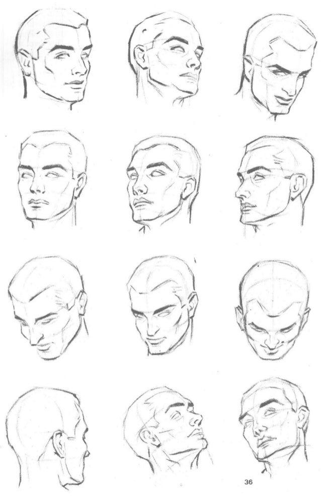 37  Como resumen de estas enseñanzas.  trate ahora de dibujar una cabeza siguiendo estas instrucciones:   I y Il. —Trace l...