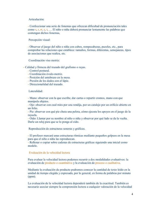 4 Articulación: Confeccionarunaseriedefonemasqueofrezcandificultaddepronunciacióntales comos,r, rr,c,t,...