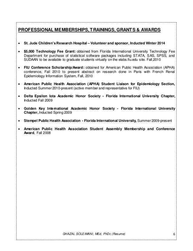 resume brief version gs 11 20 14 epidemiologist ghazal soleimani docx