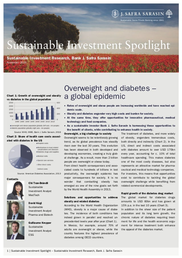 1 | Sustainable Investment Spotlight – Sustainable Investment Research, Bank J. Safra Sarasin Overweight and diabetes – a ...