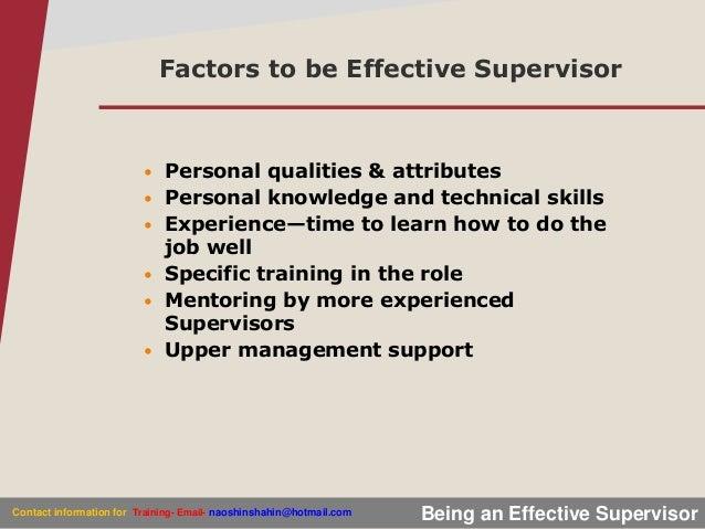 being an effective supervisor shahinur   8801712204694