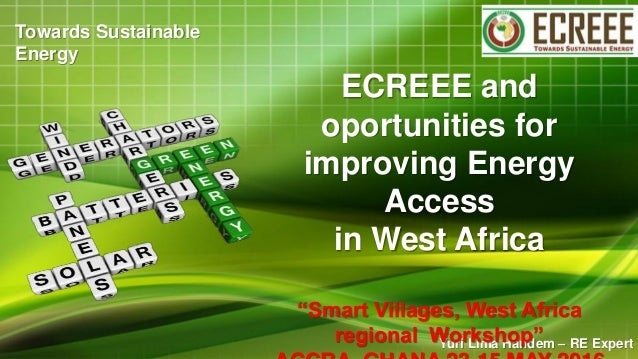 "Yuri Lima Handem – RE Expert ECREEE and oportunities for improving Energy Access in West Africa ""Smart Villages, West Afri..."
