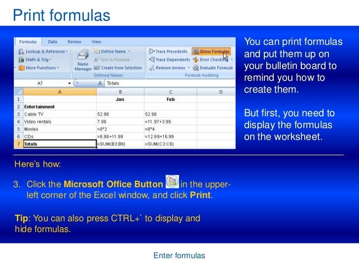 if formula in excel 2007 pdf