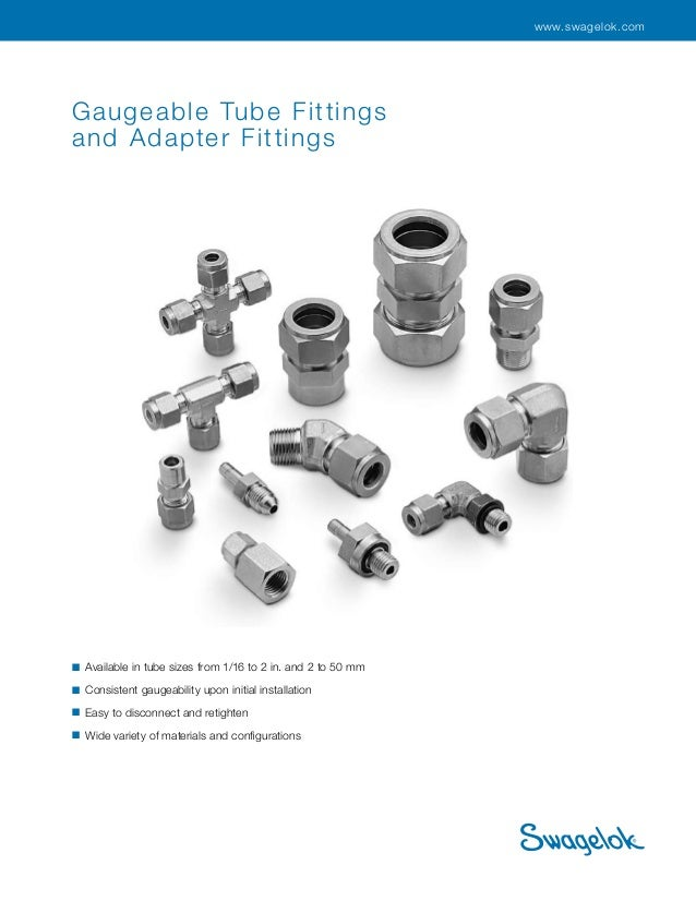 Swagelok Tube Fitting & Adafter Fitting Cat