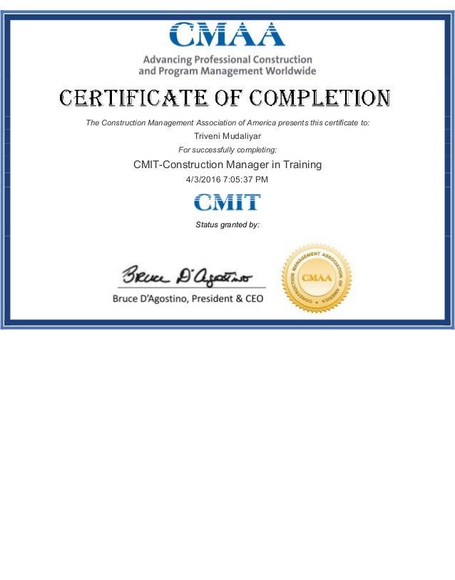 CMIT-certification