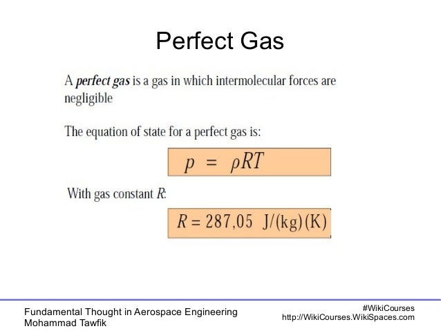 Perfect Gas  Fundamental Thought in Aerospace Engineering  Mohammad Tawfik  #WikiCourses  http://WikiCourses.WikiSpaces.co...