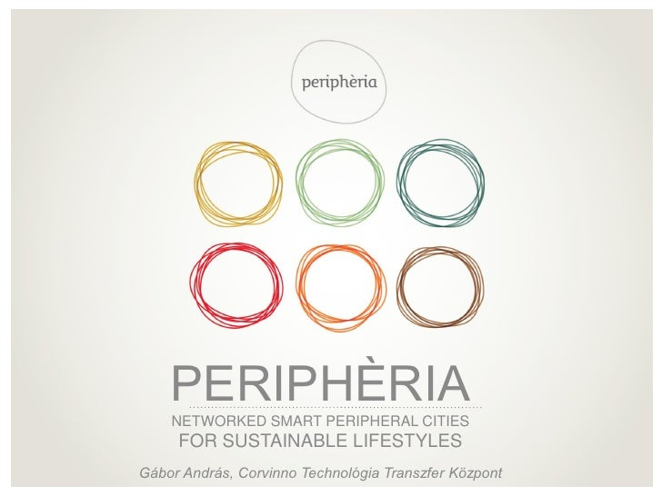 PERIPHÈRIA    NETWORKED SMART PERIPHERAL CITIES     FOR SUSTAINABLE LIFESTYLESGábor András, Corvinno Technológia Transzfer...