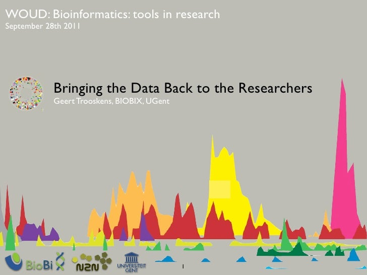 WOUD: Bioinformatics: tools in researchSeptember 28th 2011            Bringing the Data Back to the Researchers           ...