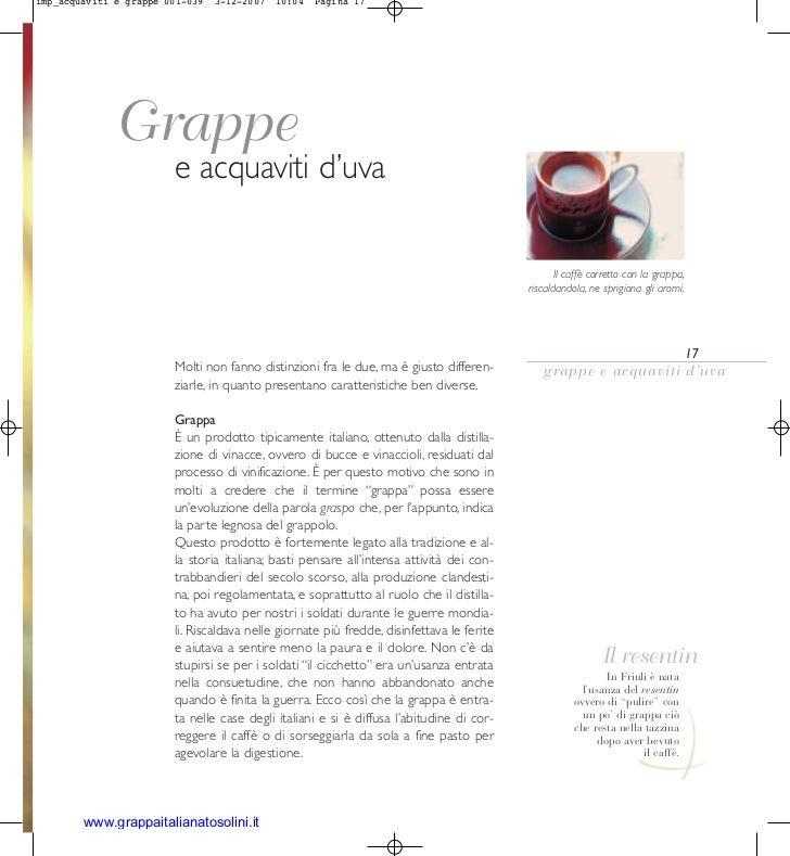 imp_acquaviti e grappe 001-039   3-12-2007   10:04   Pagina 17             Grappe                        e acquaviti d'uva...