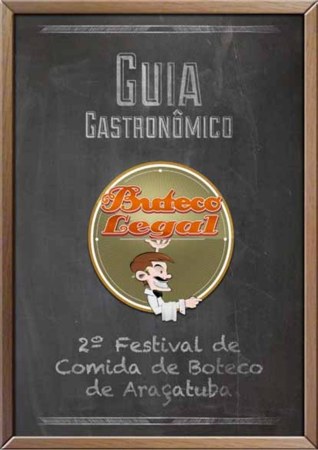 Guia gastroonômico do Buteco Legal - Araçatuba