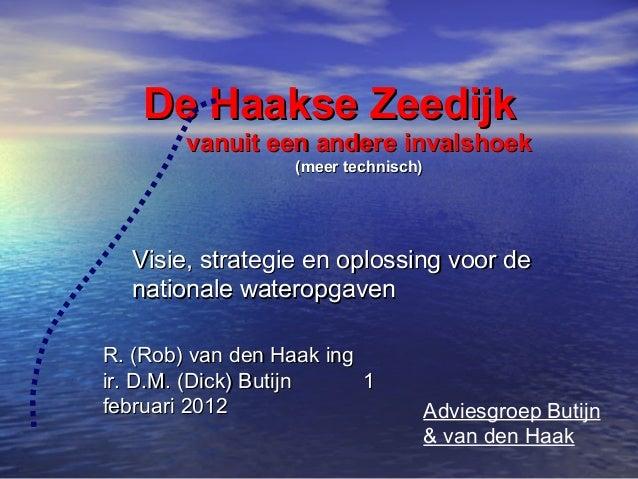 De Haakse Zeedijk        vanuit een andere invalshoek                   (meer technisch)  Visie, strategie en oplossing vo...