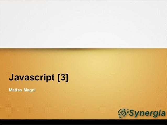 Javascript [3]Matteo Magni