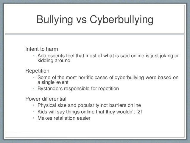 is cyberbullying worse than traditional bullying Cyberbullying in the workplace 'worse than conventional bullying' date: november 2, 2012 source: economic and social research council (esrc) summary.