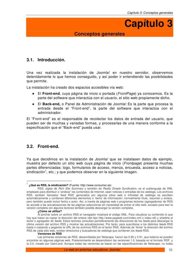 Capítulo 3: Conceptos generales                                                                                   Capítulo...