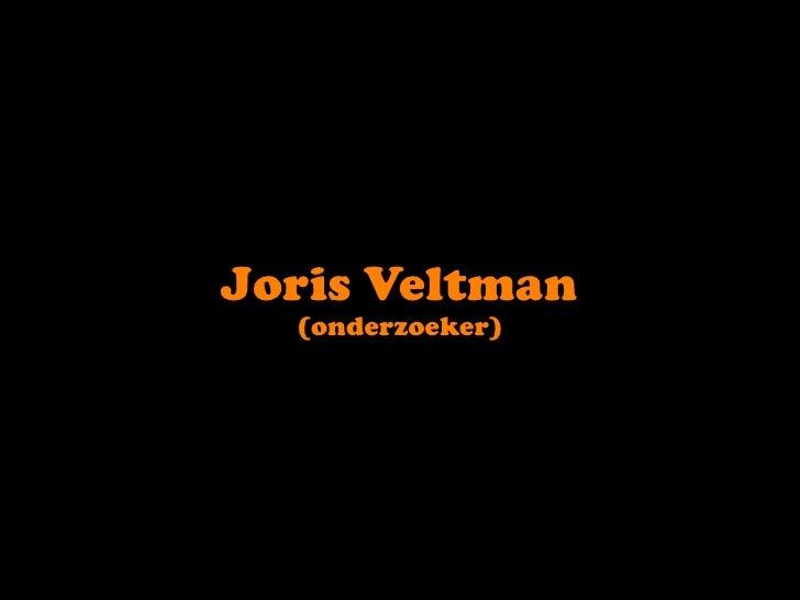 Joris Veltman<br />(onderzoeker)<br />
