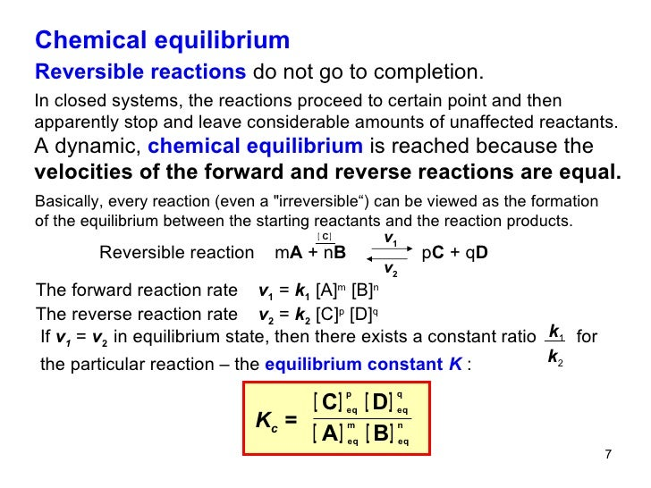 chemical equilibrium and kinetics Modeling chemical kinetics graphically andr e heck abstract in literature on chemistry education it has chemical equilibrium and chemical kinetics are impor-tant concepts in general chemistry, both in secondary education (eg, uk and the netherlands) as well as.