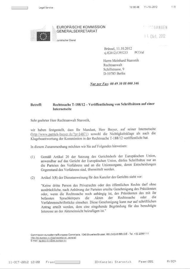 12:00i48 11-10-2012Leg a I Se rvice EUROPAISCHE KOMMISSION ;;:, .GENERALSEKRETARIAT :.: Juristischer Diertst Brussel, 11.1...