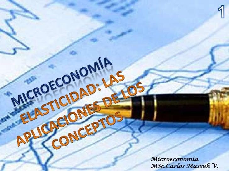 Microeconomía MSc.Carlos Massuh V.