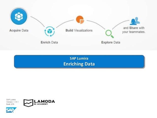 SAP Lumira Enriching Data