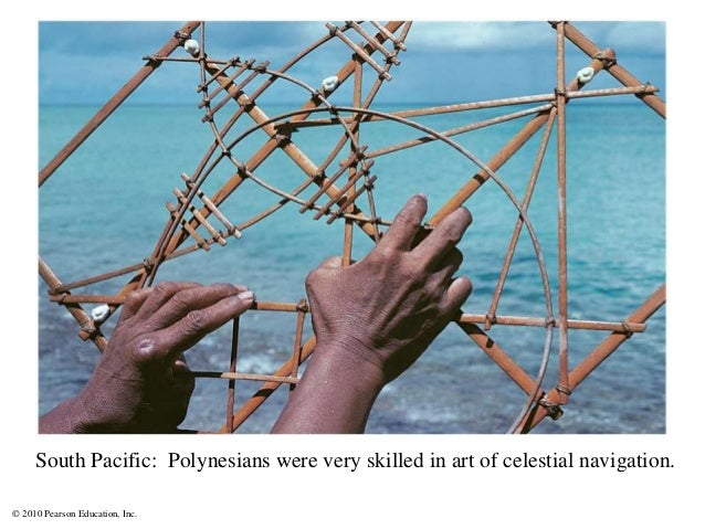 © 2010 Pearson Education, Inc. South Pacific: Polynesians were very skilled in art of celestial navigation.