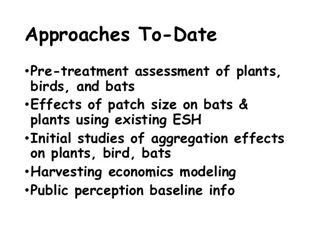 Landscape-Scale Thresholds Of Early Successional Habitat