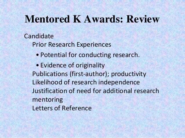 Carol mangione md msph navigating the nih k award process institutional environment 16 mentored k awards spiritdancerdesigns Choice Image