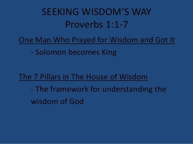 03 March 2, 2014, Proverbs 1