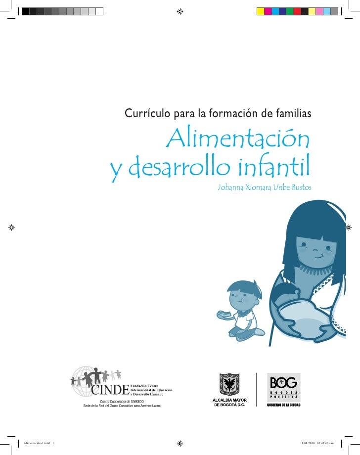 Currículo para la formación de familias                             Alimentación                        y desarrollo infan...