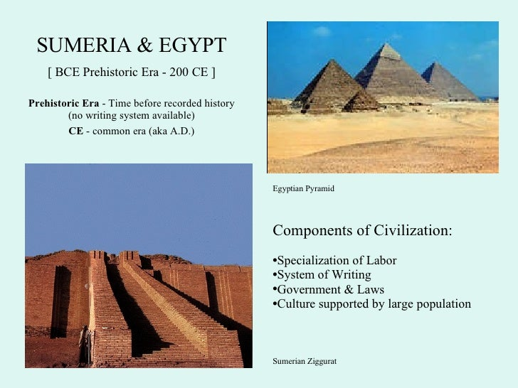 mesopotamia and egypt comparison chart