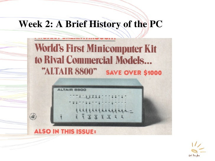 Week 2: A Brief History of the PC