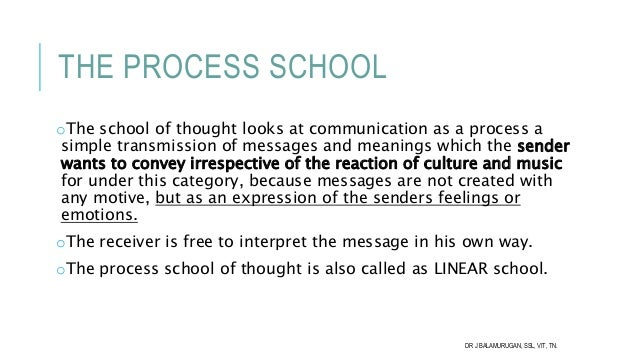 process school of thought in communication