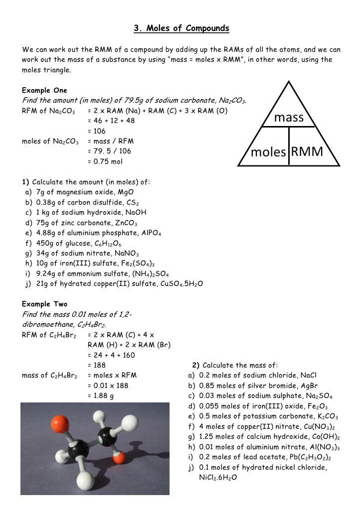 03 moles compounds